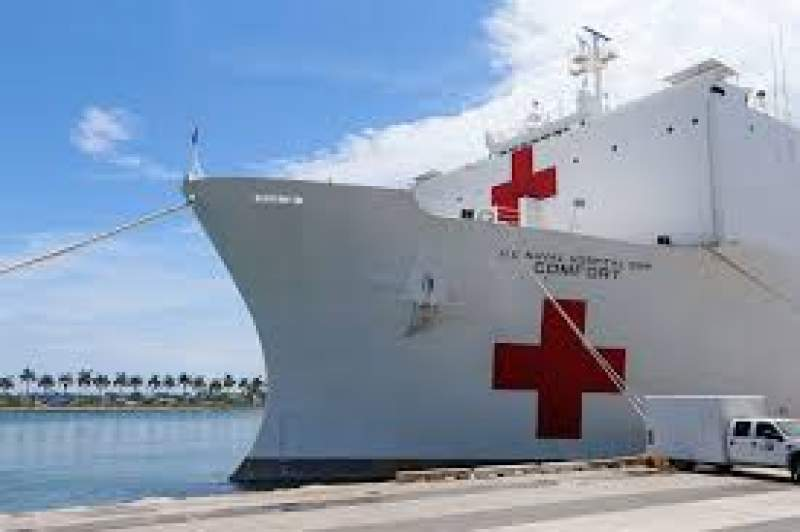 US Navy ships get ready to serve as hospitals